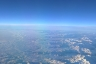 view of the Alps from plane