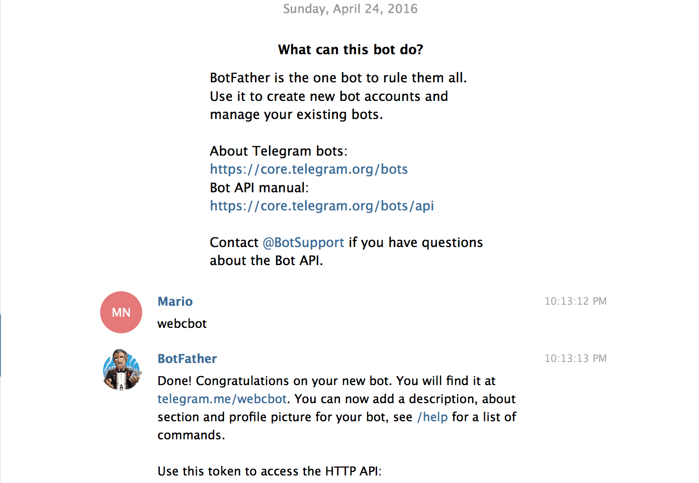 how to create telegram bot