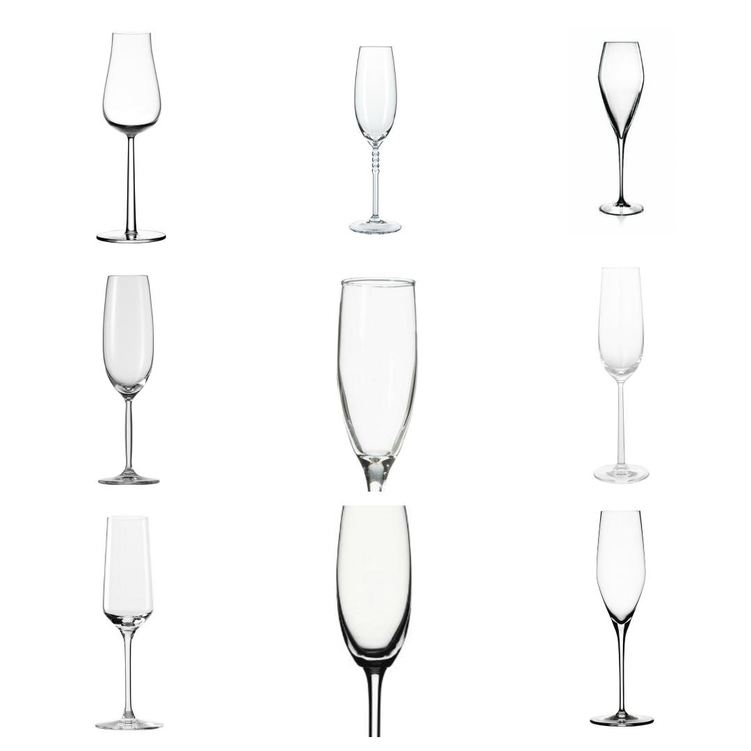 sparkling glasses