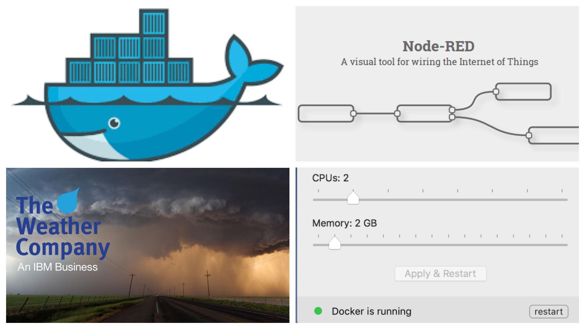 Node-RED flows for Docker